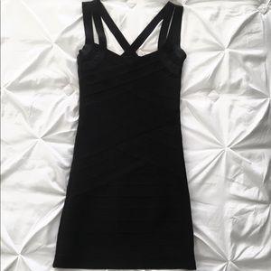 Michelle Nicole | Black Bandage Mini Dress